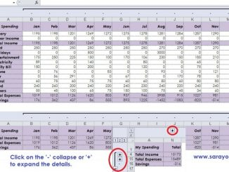 creating outline in microsoft excel